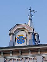 герб г.Сортавала на здании бывш. городского управления 1885г