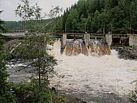 Плотина в Хямексоки на реке Янисйоки