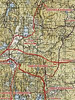 Схема  подъезда к Мурсула, Юканскоски, Коринойя, Кресту скорби