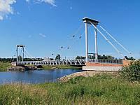 Вантовый мост в поселке Ильинский