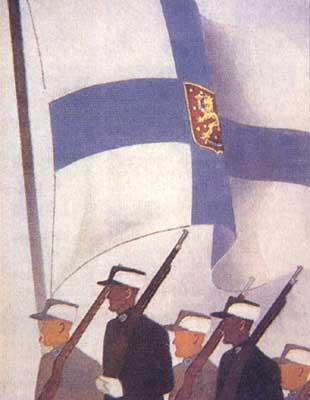 Местами не только финские, но и шведские плакаты времён финской войны.