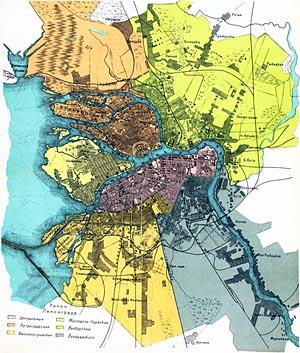 Ленинград обзорная карта 1925 год 1 6 мб