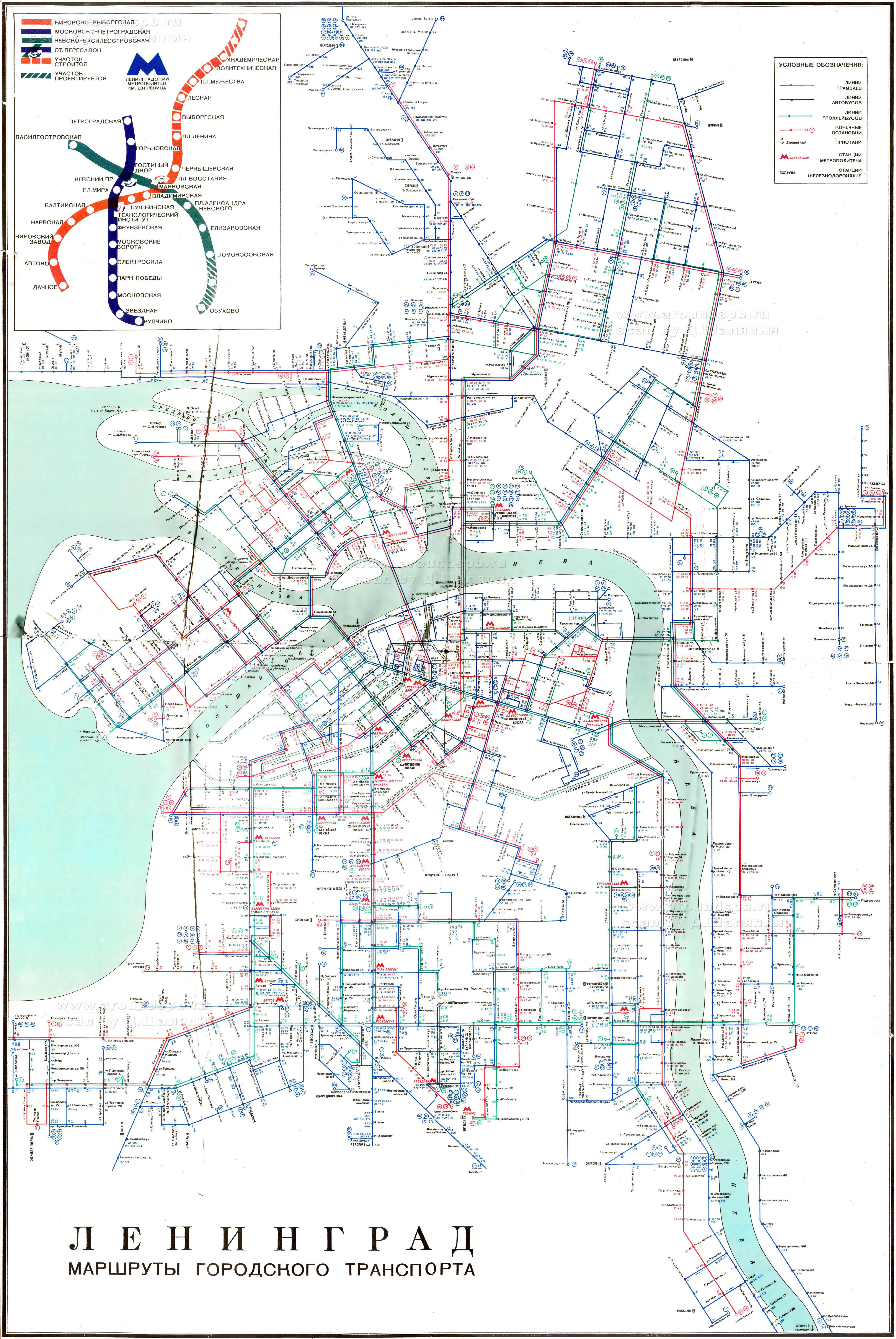 Схема трамваев спб карта