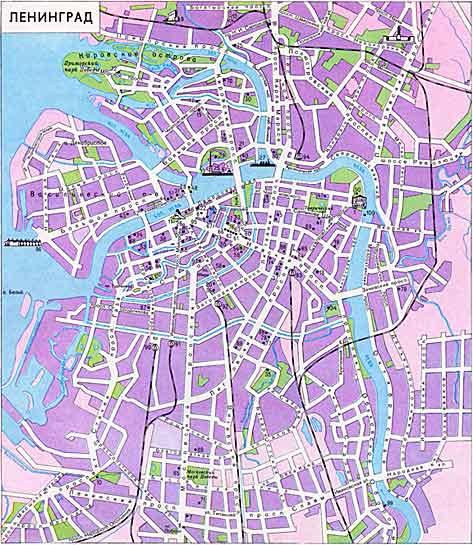 Карта ленинграда 1939 года