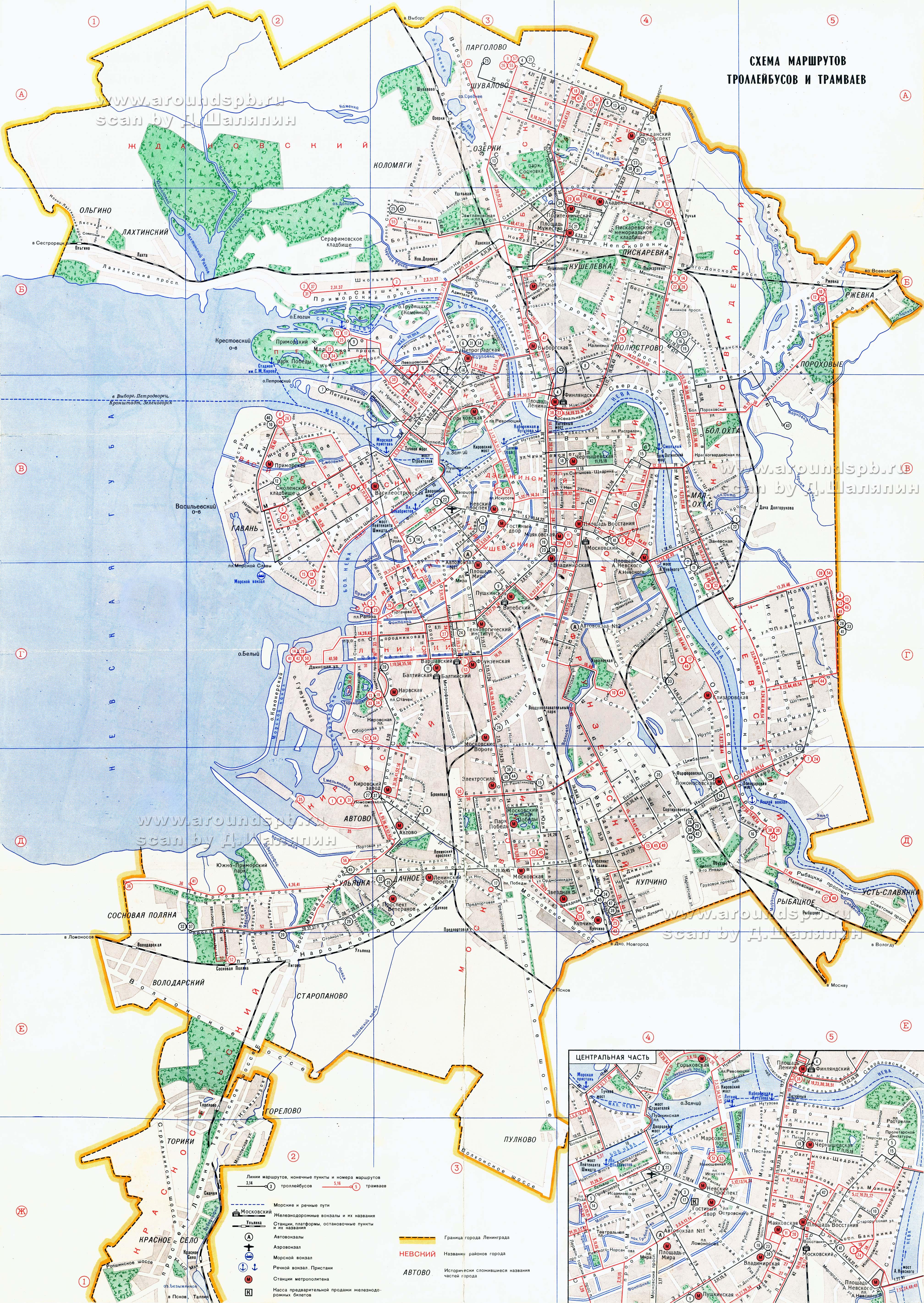 маршрут трамвая 36 санкт-петербург на карте