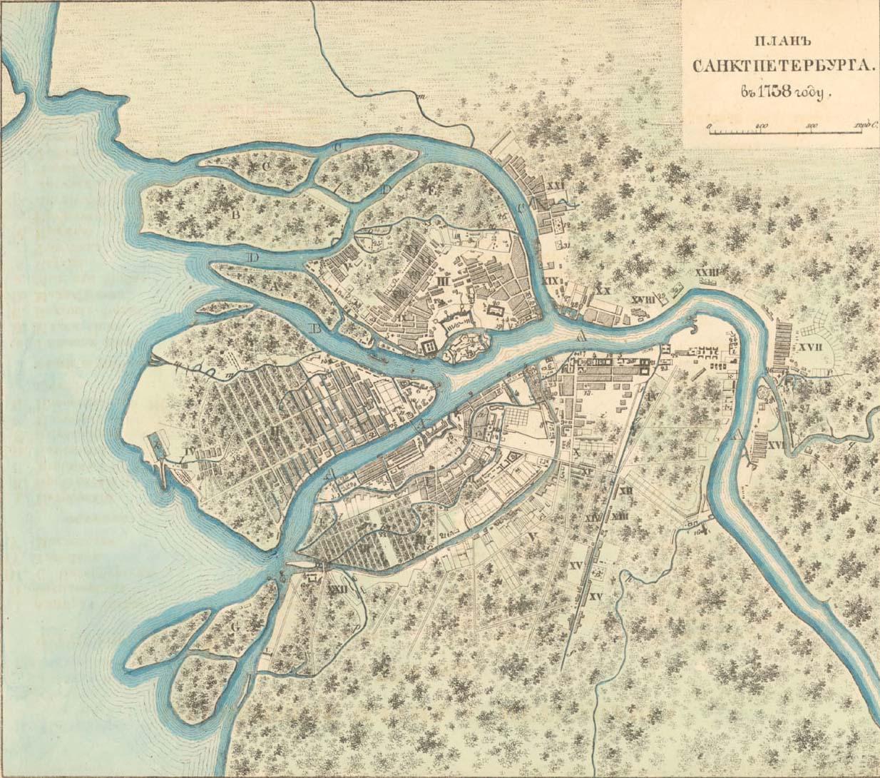 Карта петербурга 1725 года что такое билет банка россии 100 рублей