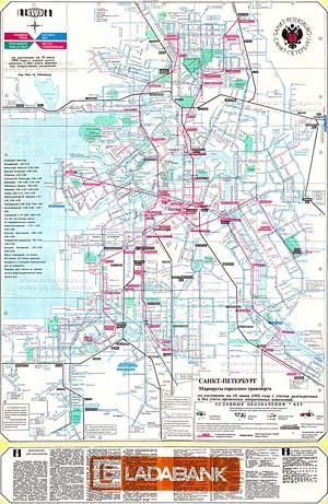 Схема маршрутов общественного транспорта петербурга