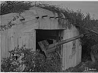 Финская полевая пушка в казематированной батарее в Каллелово