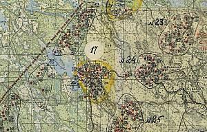 Выборгский укрепрайон, фрагмент схемы 1940 года