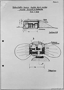 Выборгский укрепрайон. Пулеметная огневая   точка с бетонной стенкой
