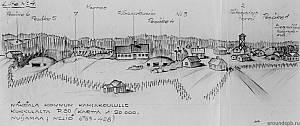 Выборгский укрепрайон. Вид со стороны Финляндии на опорный пункт в д.Конту