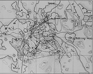 Выборгский укрепрайон. Схема опорного пункта Нявери (д.Конту)