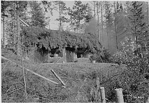 Выборгский укрепрайон. Артиллерийский полукапонир с установками Л-17, 76 мм