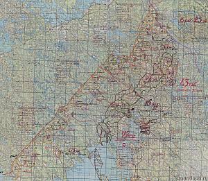 Выборгский укрепрайон. Схема обороны госграницы по варианту 1
