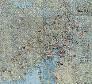 Выборгский укрепрайон. схема обороны госграницы по варианту 2