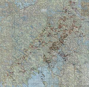 Выборгский укрепрайон. Схема обороны госграницы по варианту 3