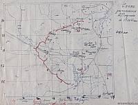 Схема расположения 255 СП в сентябре 1941 г
