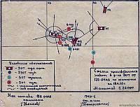 Схема произведенных оборонительных работ в районе ДОТа №07