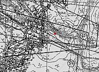 Развед.схема финских позиций. 1944 год