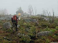 Конец тропы на Воттоваару, выход на плато