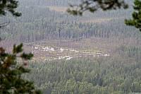 Вид с Воттоваары на реку Тяжа