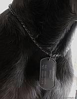 Настоящий армейский собачий жетон