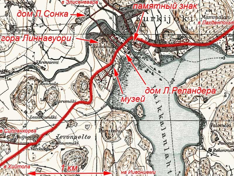 Схема поселка Куриеки
