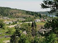Вид на Куркиеки с горы Линнавуори