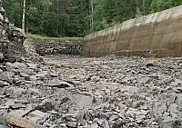 Осушенный канал летом 2008 года в Хямекоски
