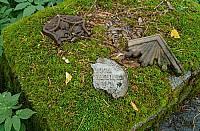 Осколки прошлого на кладбище в Кителя