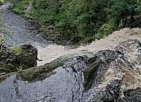 Вид с  верхней точки водопада Юканкоски