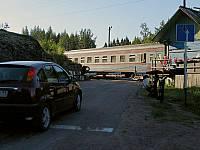 Остановка первого вагона в Карелии