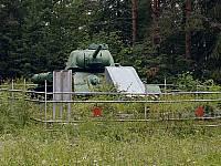 Танк Т-34 в деревне Самбатукса