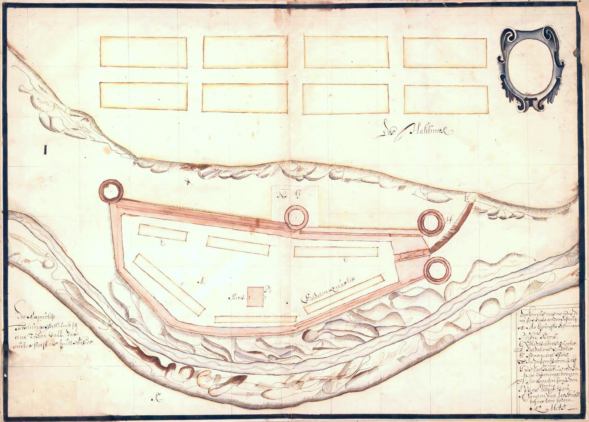 План Копорья 1645   года