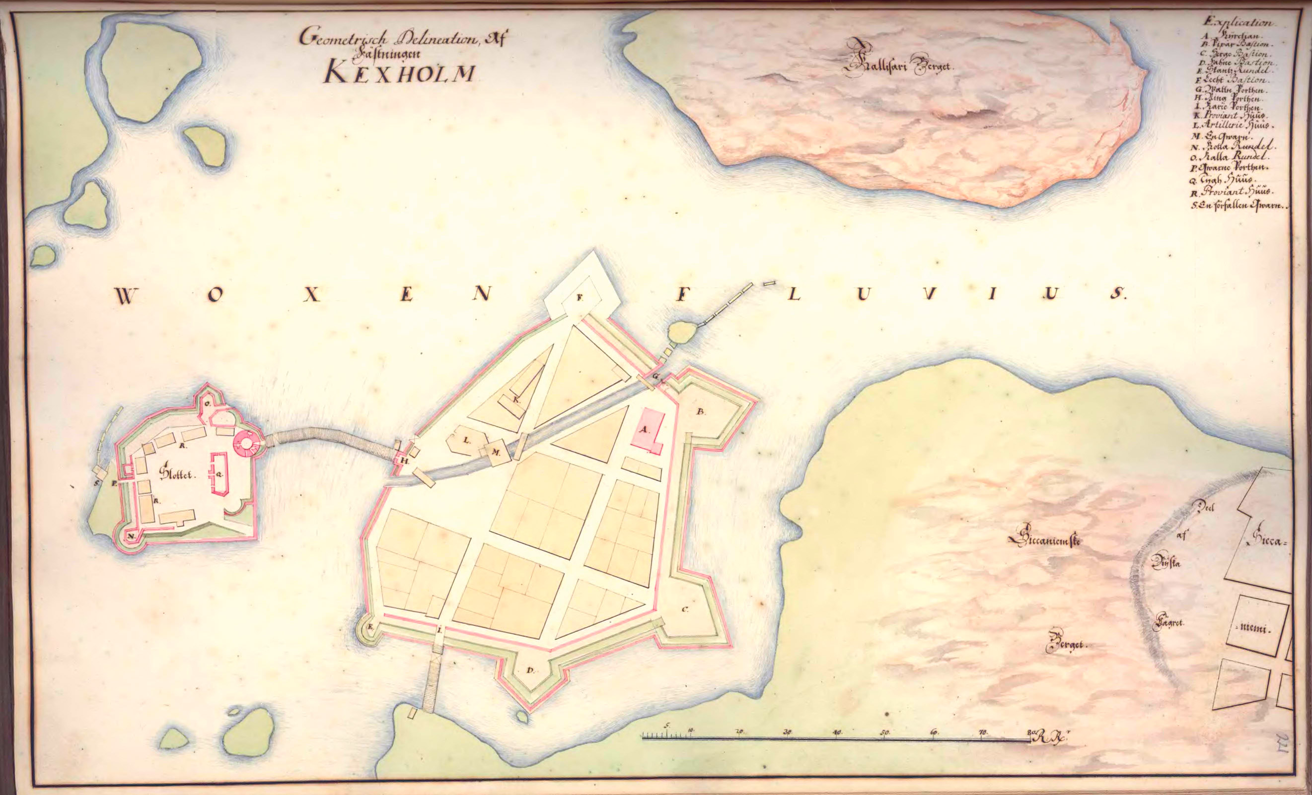 План Кексгольма 1670-1690 года.