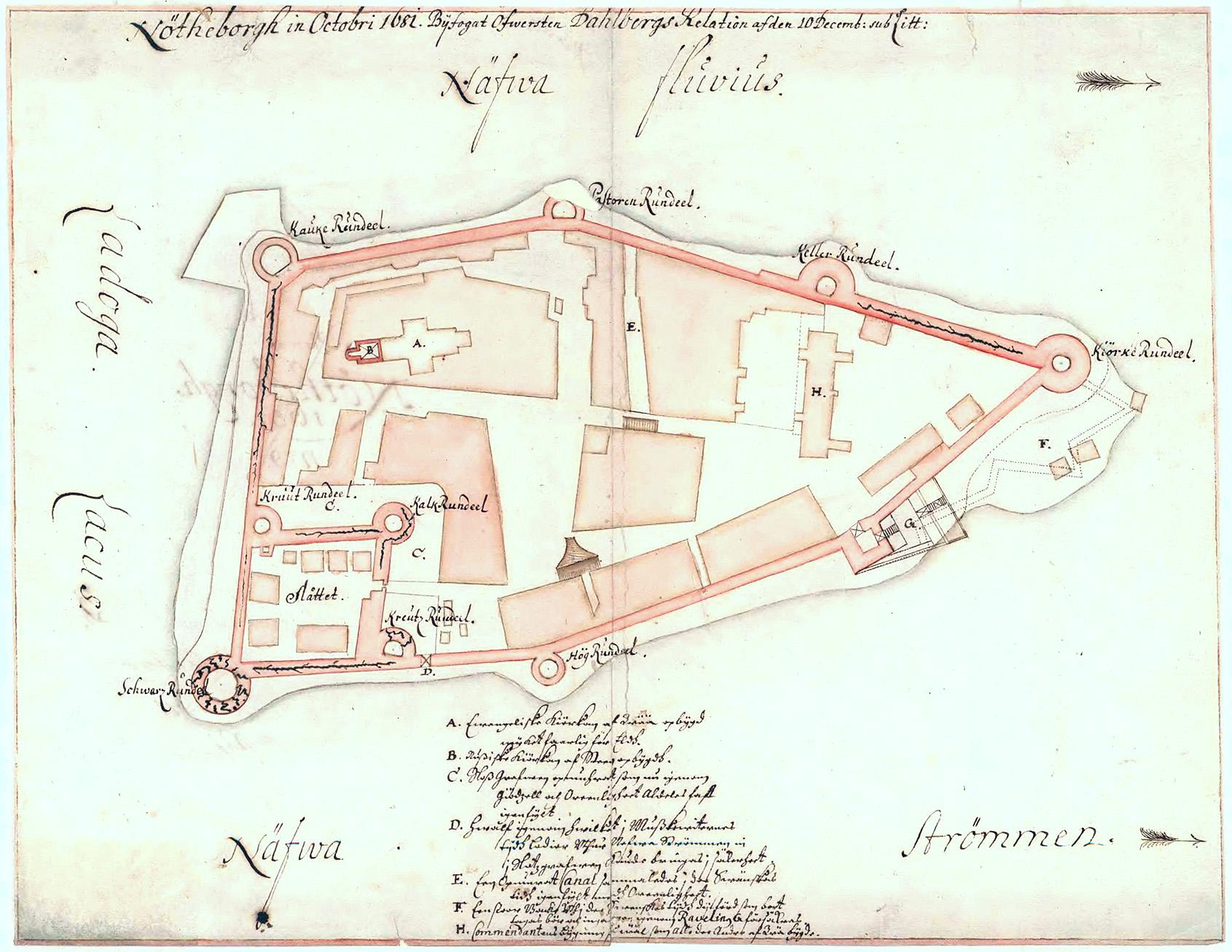 Нотебург в октябре 1681 года