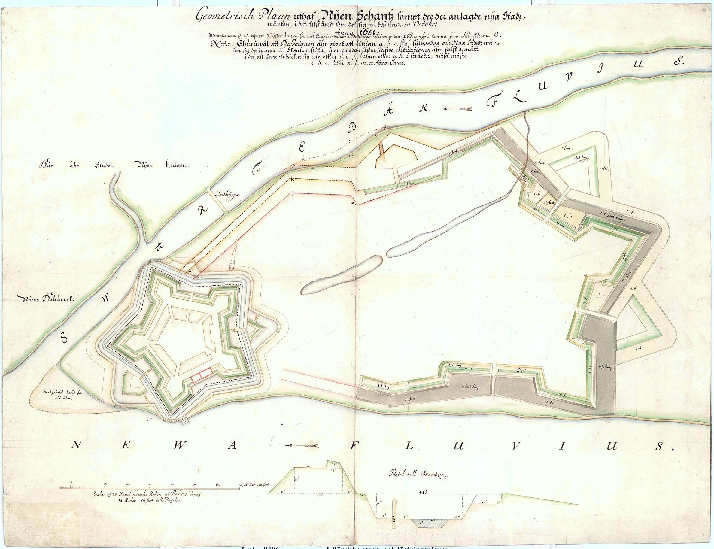 План Ниеншанца 1681 года